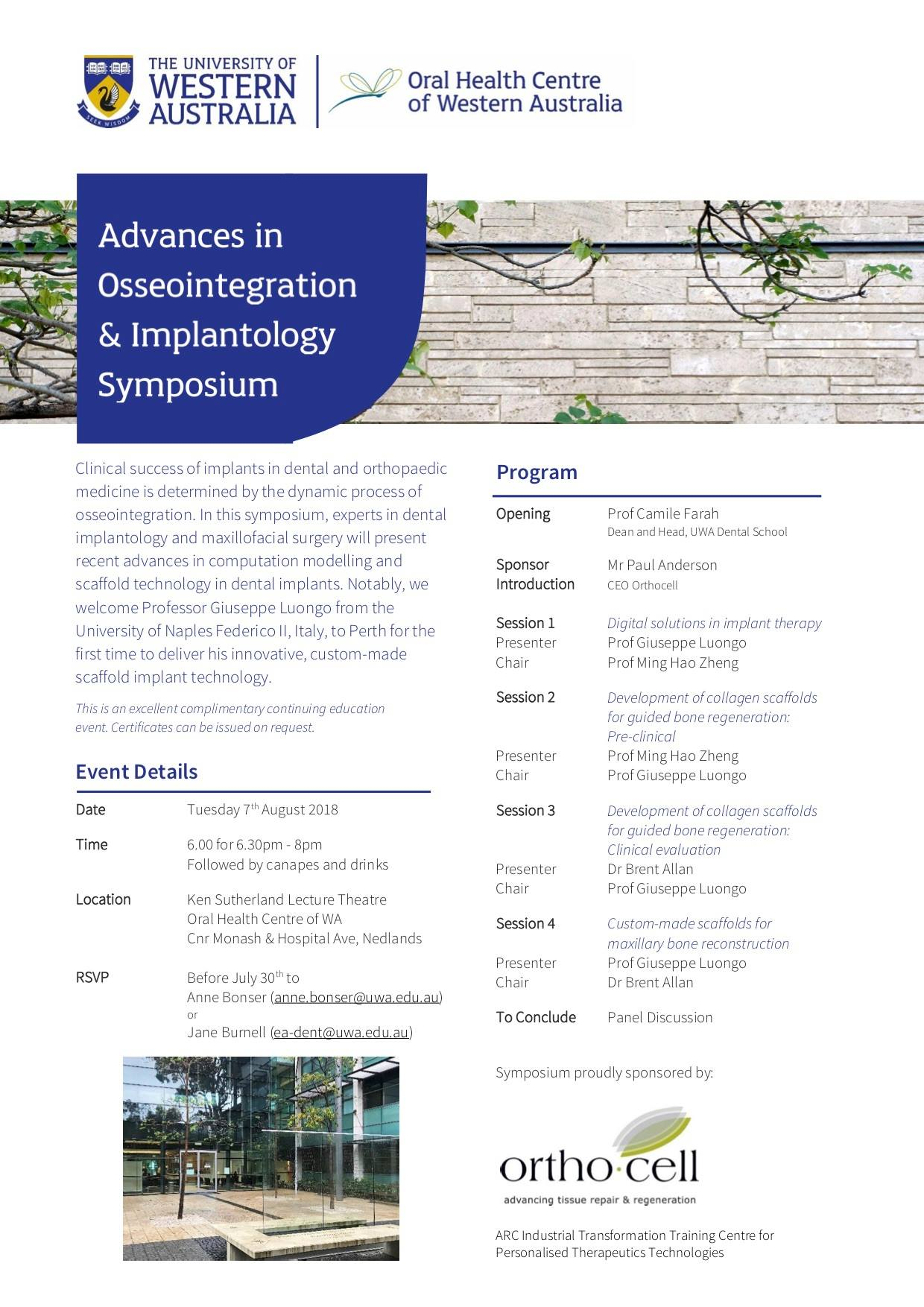 Oral-Health-Australia- Osseointegration-Symposium